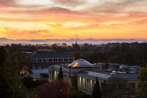 OSU campus at dawn