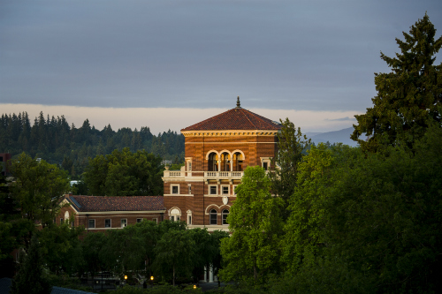 OSU building at dawn